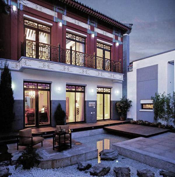 项目主打特色是现代中式建筑风格,吸纳了岭南四大名园,北京四合院等图片
