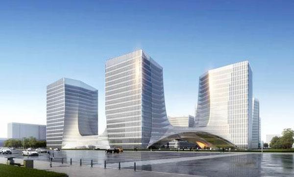 由12栋板塔结合的建筑群组成